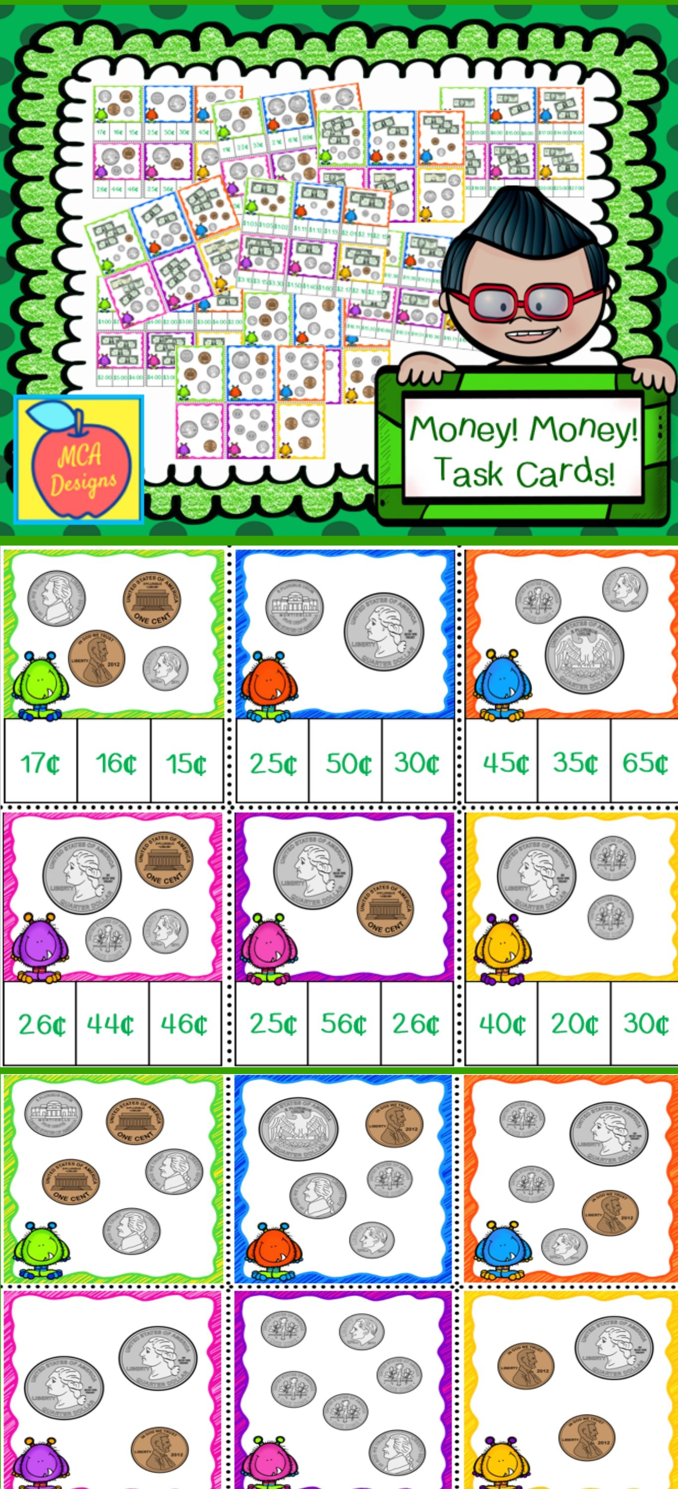 Money Task Cards | ***All things Educational and Fun for Grades Pre ...