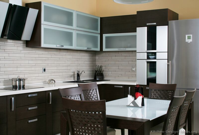 Dark Wood Modern Kitchen Cabinets kitchen idea of the day: modern dark wood kitchens. | espresso