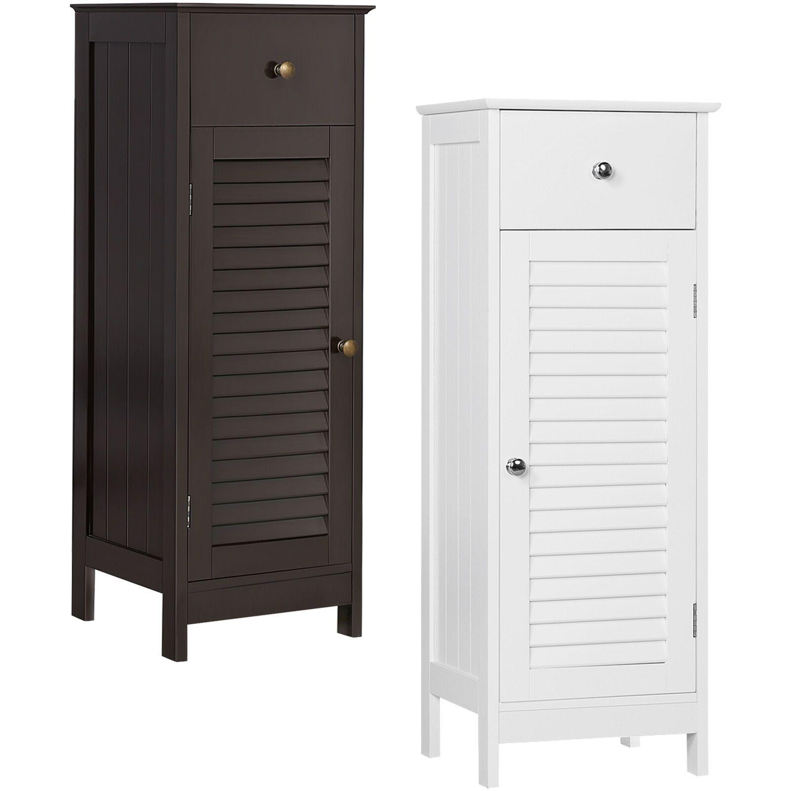 Wood Bathroom Floor Cabinet Storage Organizer Free Standing With Drawer And Door 59 99 Cool Bathroom Storage Ideas Of Bathro In 2020 Bathroom Floor Storage Cabinet