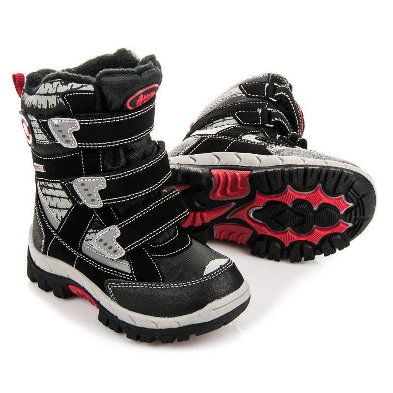 Kozaki Dla Dzieci Americanclub American Club Czarne Kozaki Dla Chlopca Boots Winter Boot Shoes