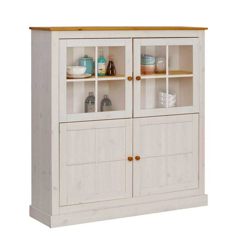 County Highboard Mit 2 Glasturen 2 Normalen Turen Keduras In