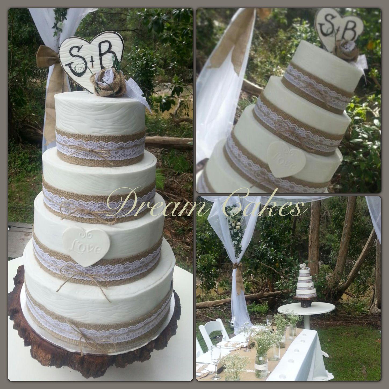 Rustic wedding cake Wedding ideas