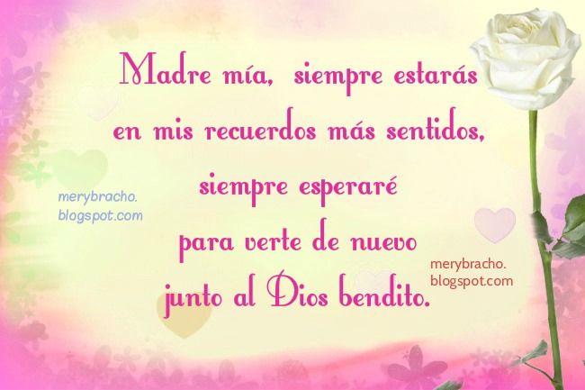 Madre Que Esta En El Cielo Poema Cristiano Madre En El Cielo
