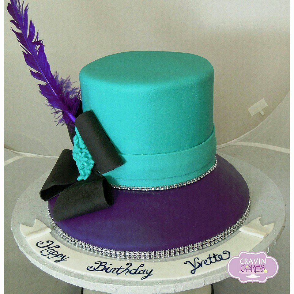 Hat Cake perfect for a Sunday brunch Adult Birthday Cakes