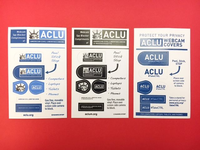 ACLU Webcam Covers Custom Webcam Blockers By Websticker Goo - Free promotional custom vinyl stickers