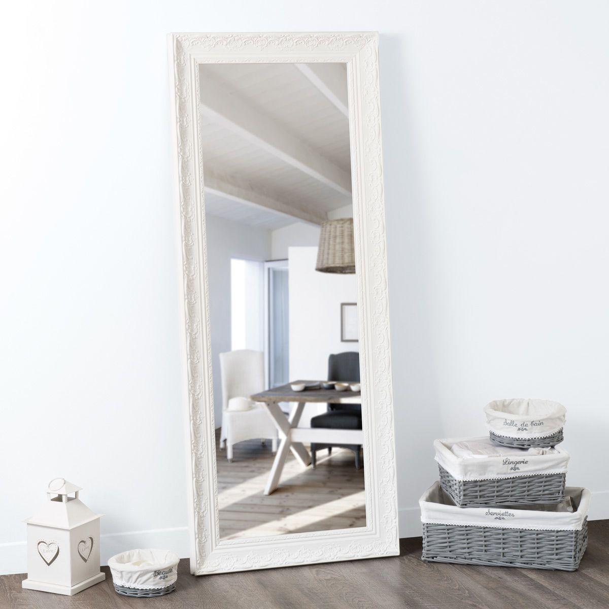 Specchi Per Bagno Maison Du Monde.Specchio In Paulonia Bianco 145x59 Cm Bagni In 2019 Mirror Wood