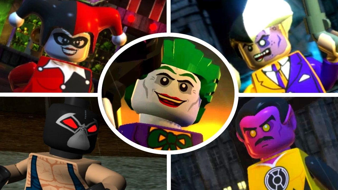 Lego Batman 2 Dc Super Heroes All 22 Villain Boss Fights Unlocking All Villains Youtube Lego Batman Lego Batman 2 Villain Character