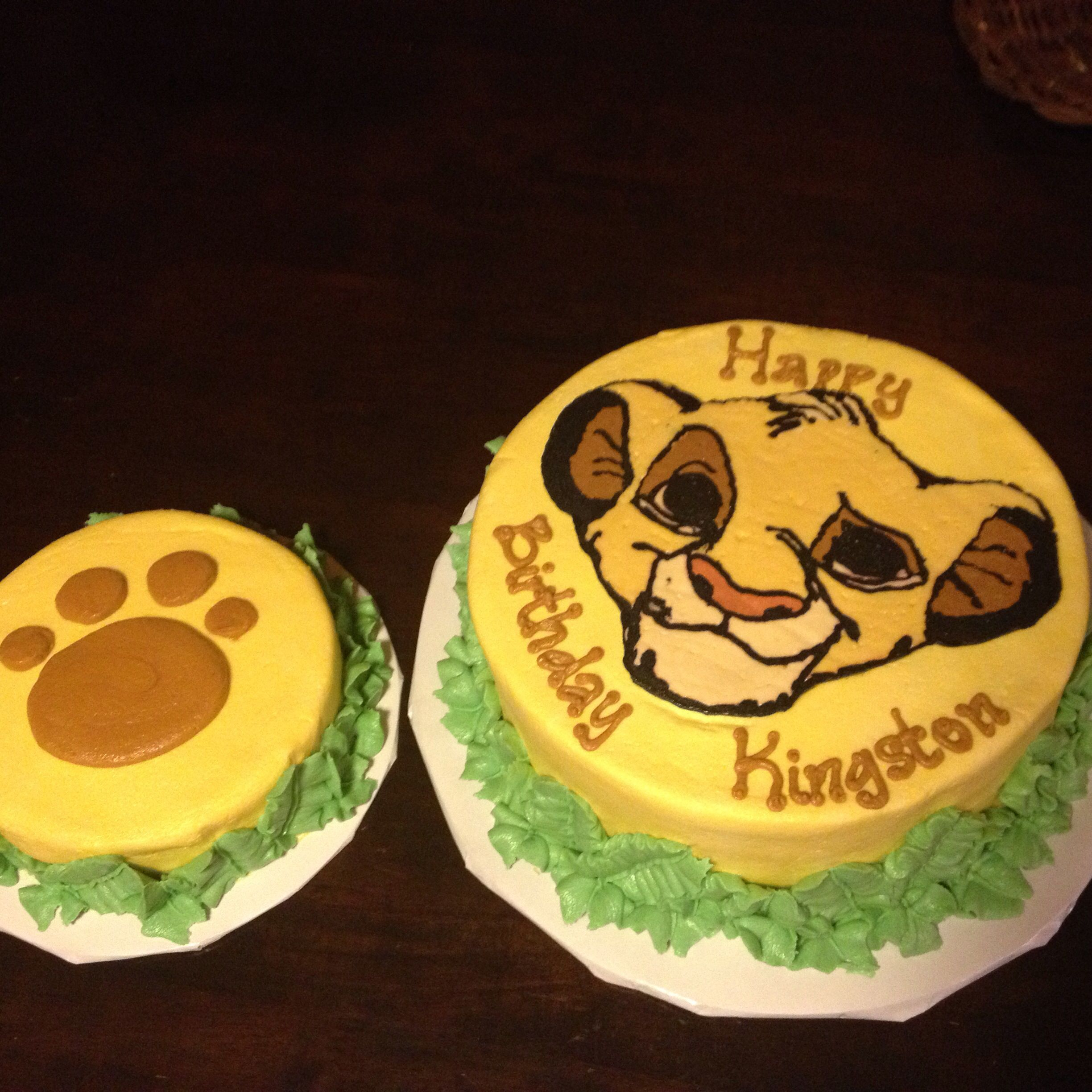 Cakes by Bekah Lion King cake for first birthday Cake Creations