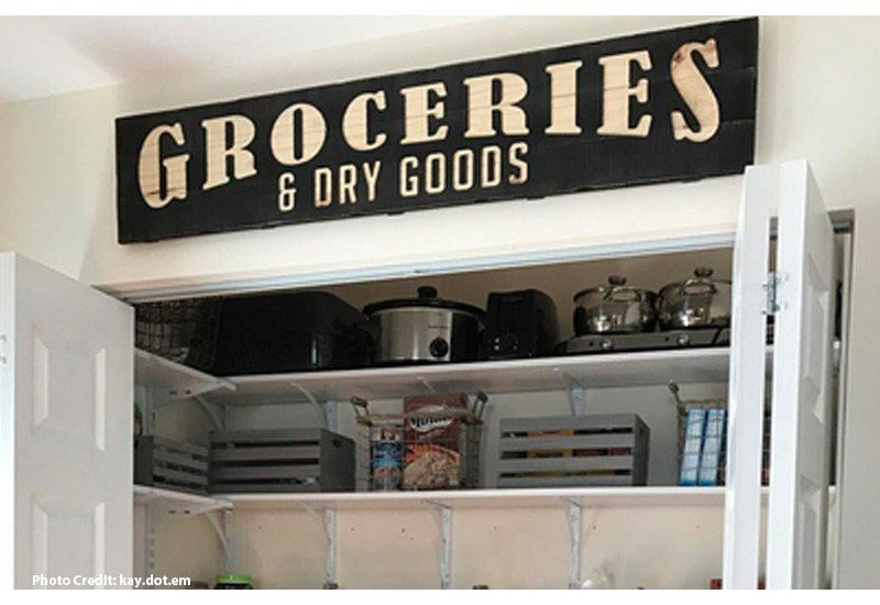 Groceries Sign, Large Groceries Sign, Farmhouse Vintage | Kitchen ...