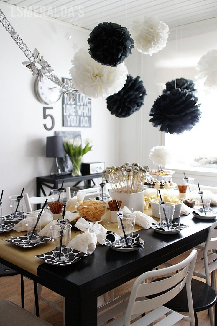 50th Birthday Dinner Party Ideas Part - 24: Black And White Birthday Party U2013 Esmeraldau0027s