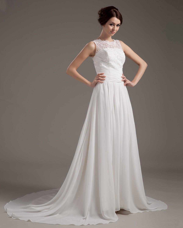 Chiffon lace beading bridal gown wedding dress kleider pinterest