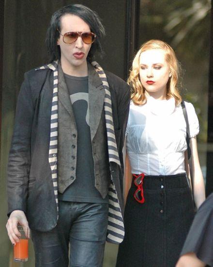 Marilyn Manson And Evan Rachel Wood Are Engaged Evan Rachel Wood Marilyn Manson Marilyn