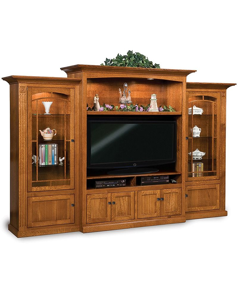 Manhattan Mission 3 Piece Wall Unit In 2019 Amish Large Wall Units