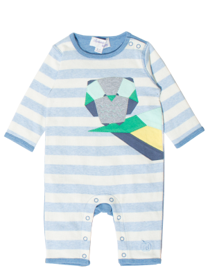 £32 Cotton Baby Playsuit 'DUKE' by Bonnie baby