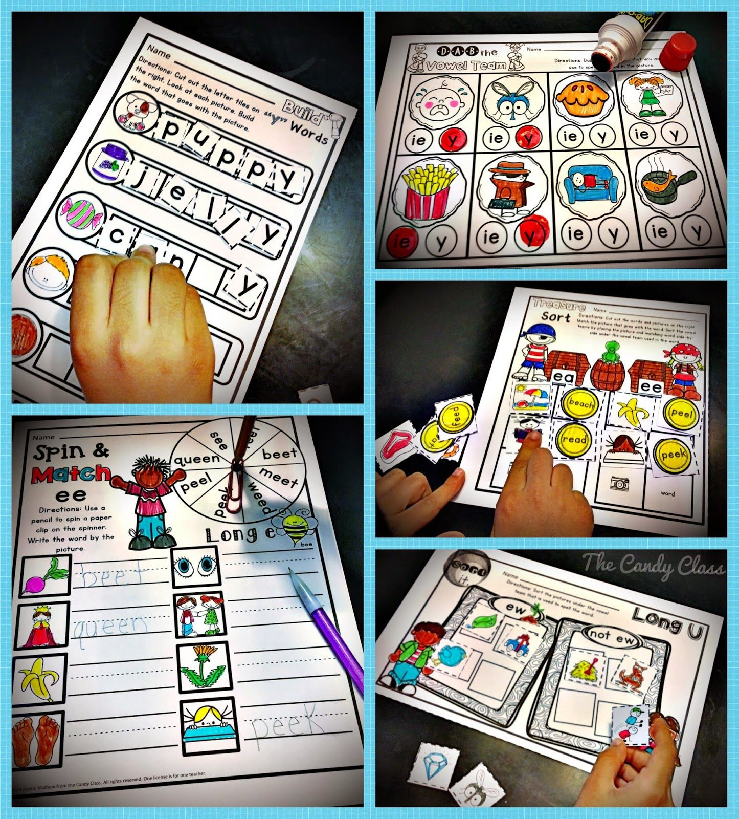 Long Vowel Teams Activities Phonics Worksheets For 1st