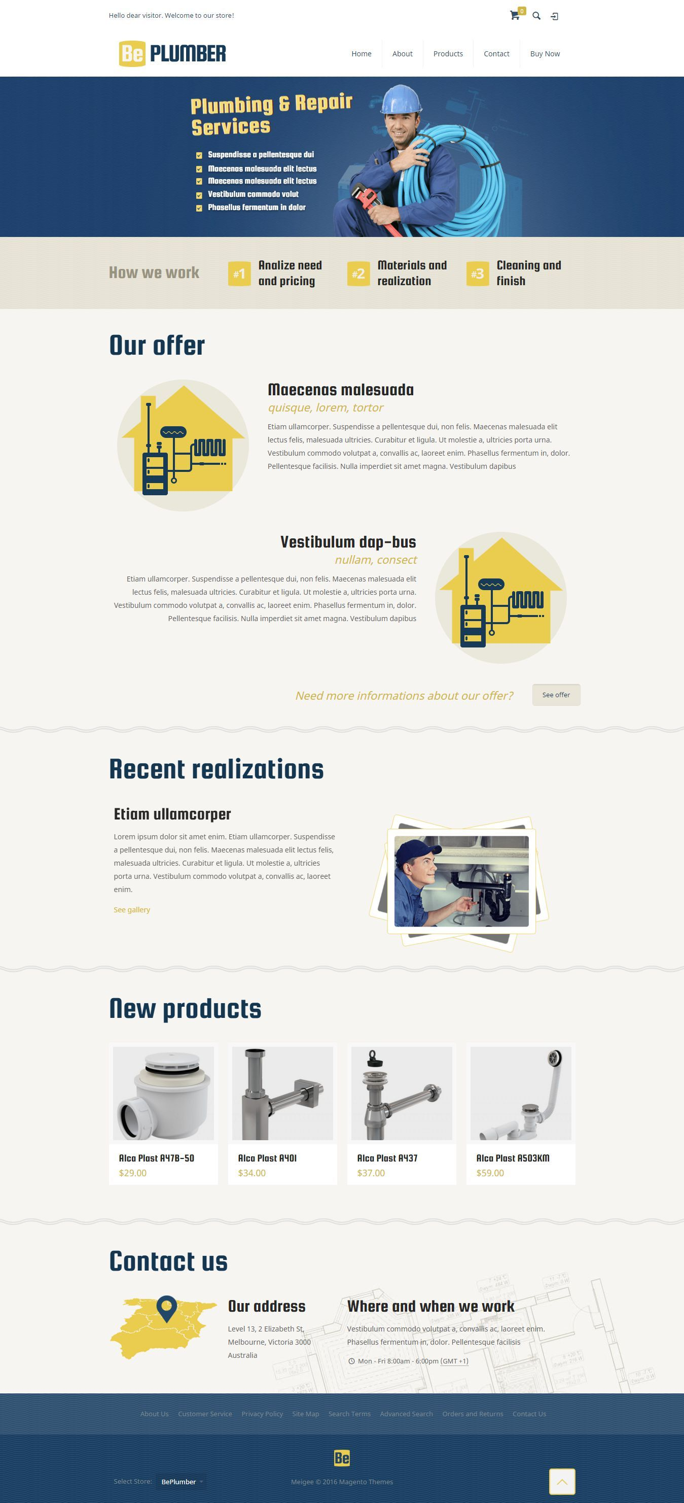 BeTheme Multipurpose Responsive #Magento Theme for Plumbing and Repair Services Website. Demo 18 #Plumber #Handyman #SANITARY #Template