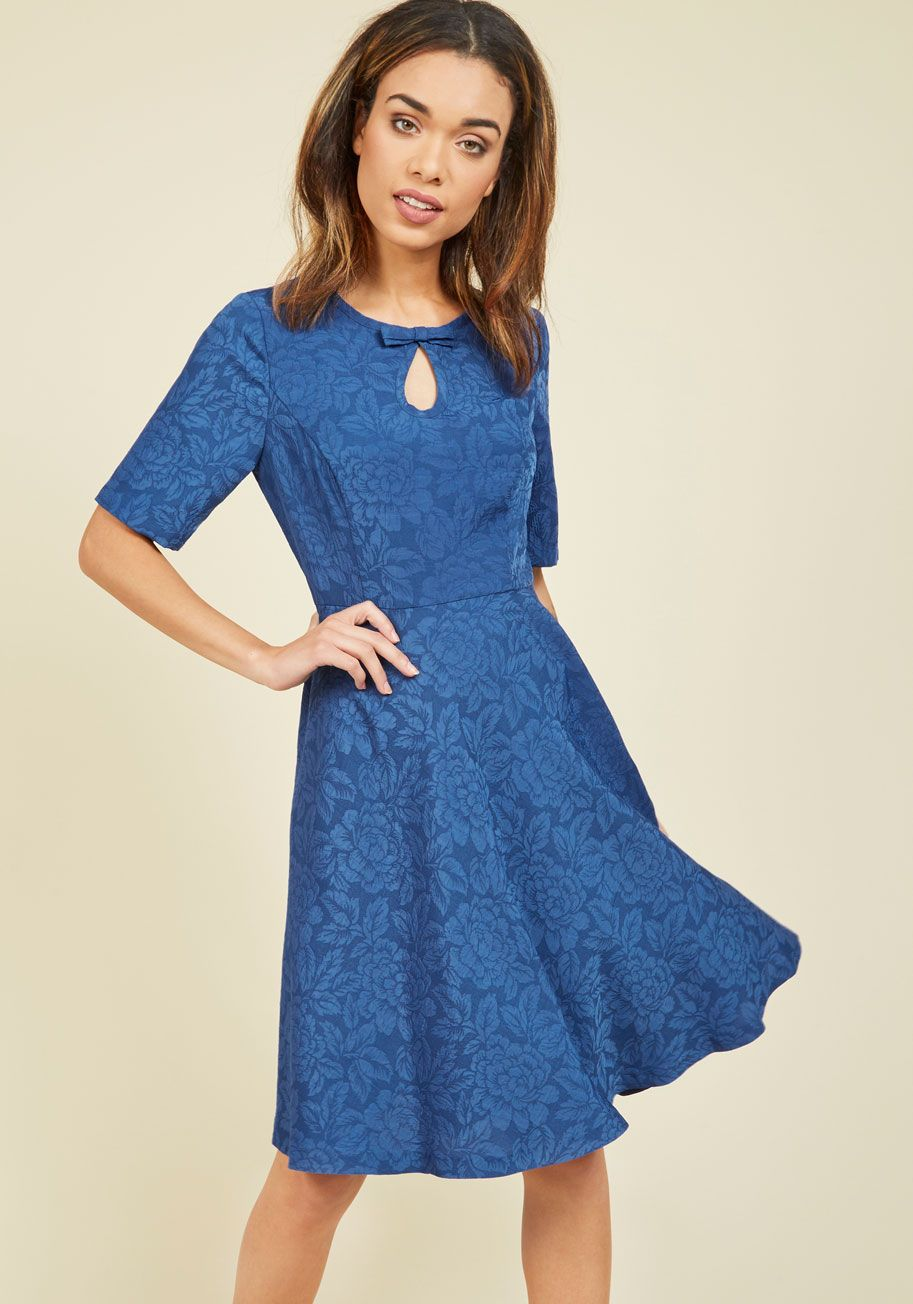 Curated Cartographer Dress in Cerulean | Party Dresses & Style ...