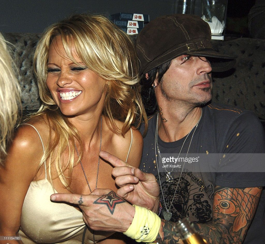 Pamela anderson tommy lee wedding bands - Pamela Anderson And Tommy Lee During Rokbar Hollywood Launch Party Inside At Rokbar In Los