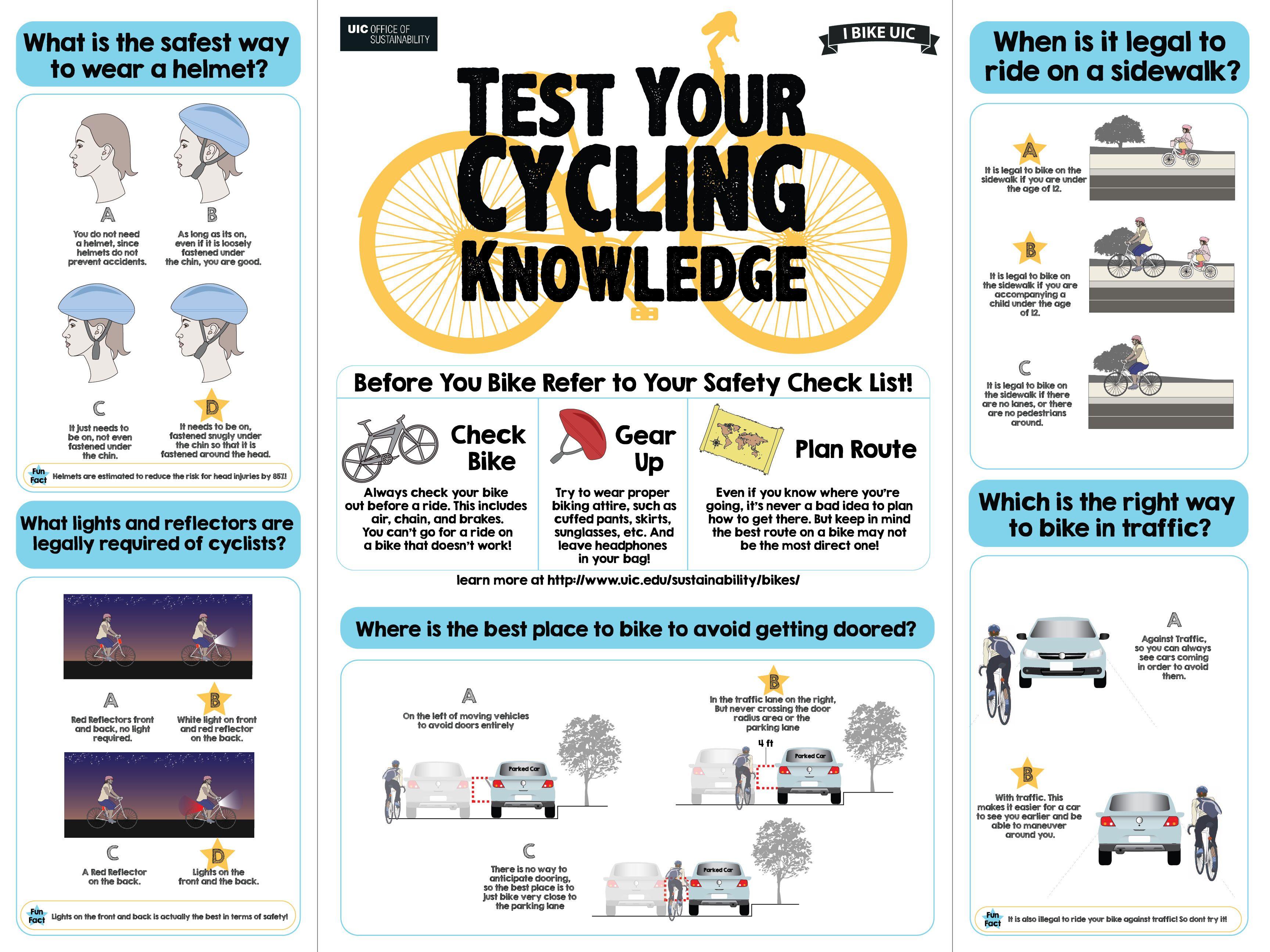 Biking Quiz Bike Safety Bike Kids
