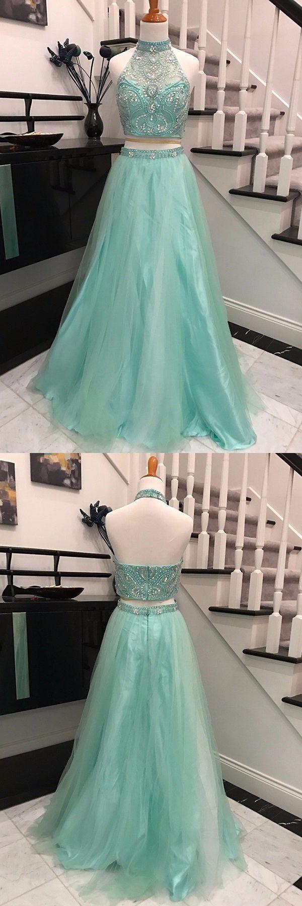 Mint prom dressesaline prom dresseshalter pieces prom prom