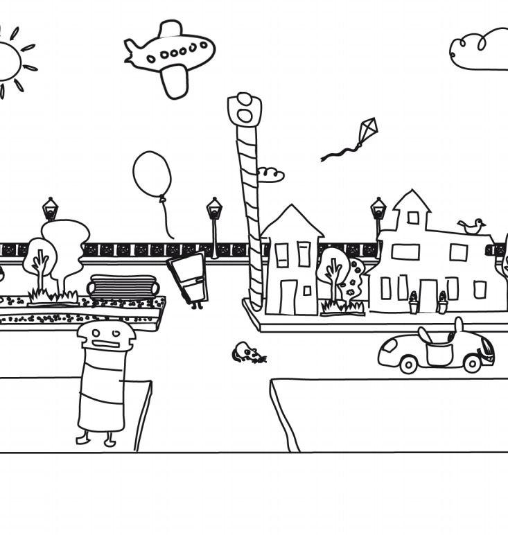 Coloreables De La Calle Los Dibujos De Juntines Listos Para Imprimir Y Colorear Http Dibujos De Figuras Geometricas Dibujos Con Figuras Figuras Geometricas