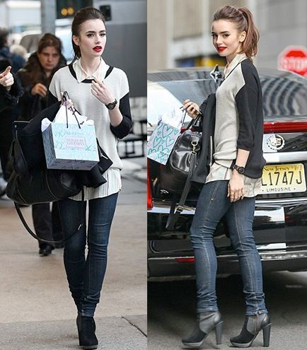 Lily Collins is the cutest in her Geri II top!