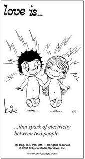 "A ""love is..."" cartoon!"