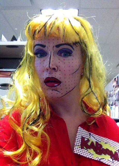 Roy Lichtenstein Halloween Costume.Comic Girl Halloween Costume Pop Art Girl Roy
