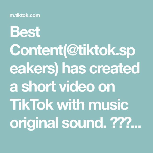 Best Content Tiktok Speakers Has Created A Short Video On Tiktok With Music Original Sound Addisonrae Dix Throwback Songs The Originals Music Waves