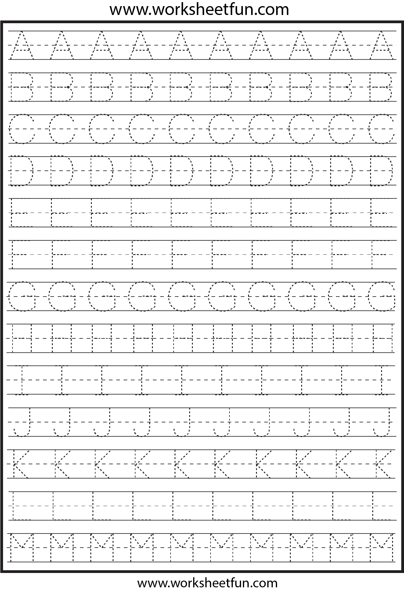 Letter Tracing 2 Worksheets