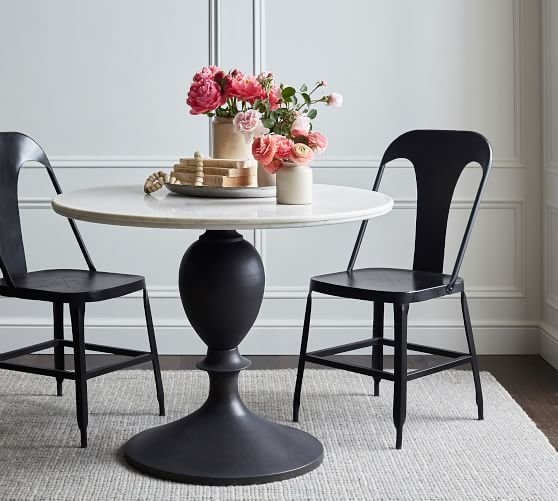 Chapman Round Marble Dining Table Dining Table Round