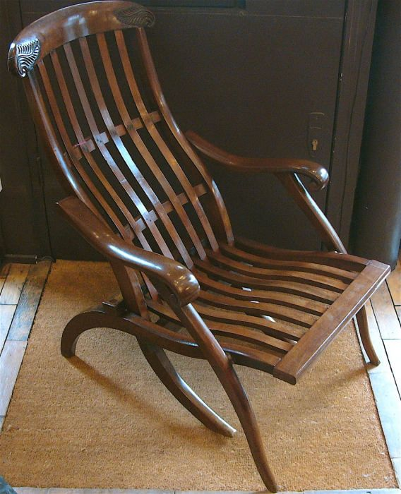 antique steamer chair / Bentley's Antiques - Antique Steamer Chair / Bentley's Antiques La Côte Pâle Chair