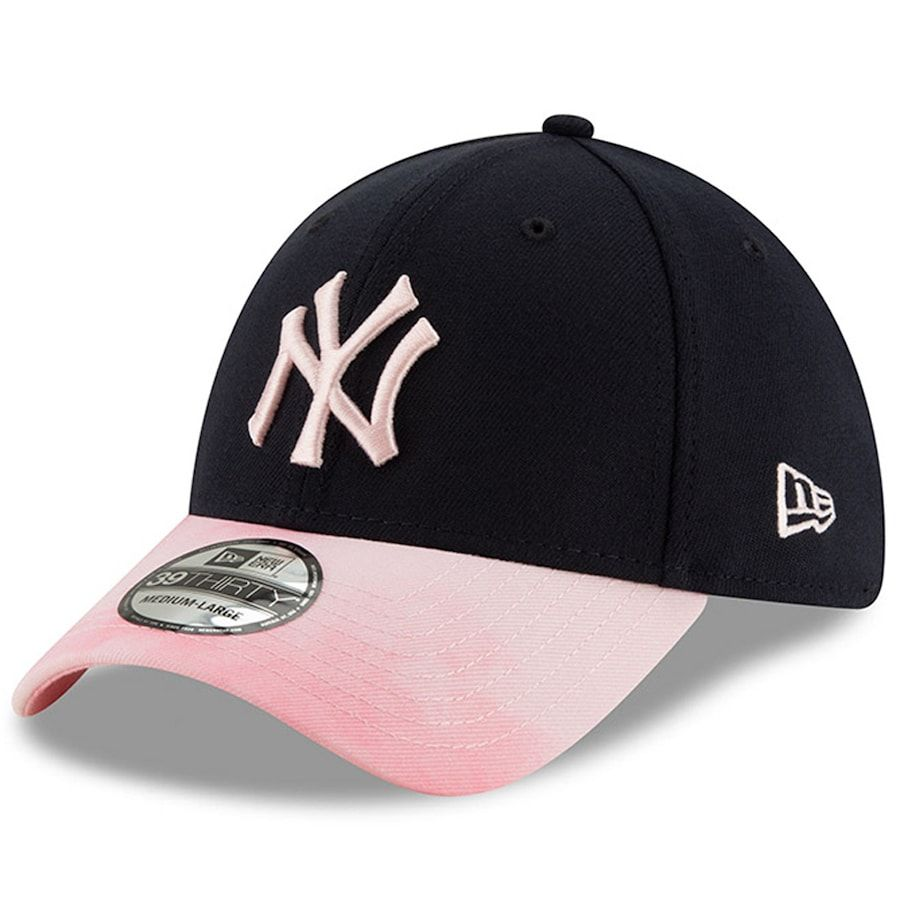 New York Yankees New Era Mother S Day 39thirty Flex Hat Navy Pink In 2020 Fitted Baseball Caps Yankees News New York Yankees