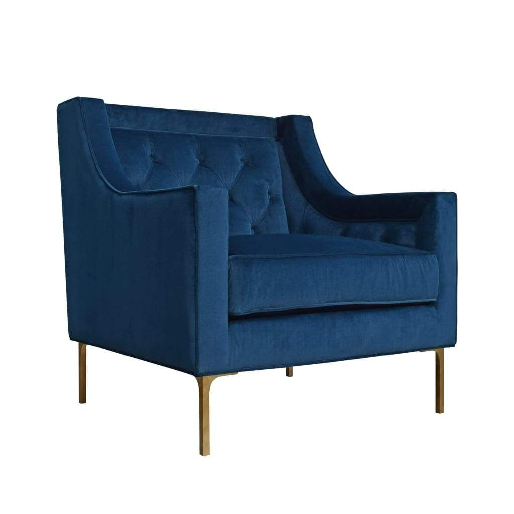 Best Button Tufted Velvet Upholstered Wooden Accent Chair With 400 x 300