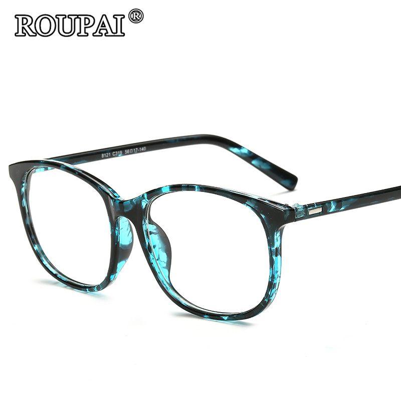 ROUPAI Eye Glasses Frames For Women 2017 Vintage Unisex Spectacle ...