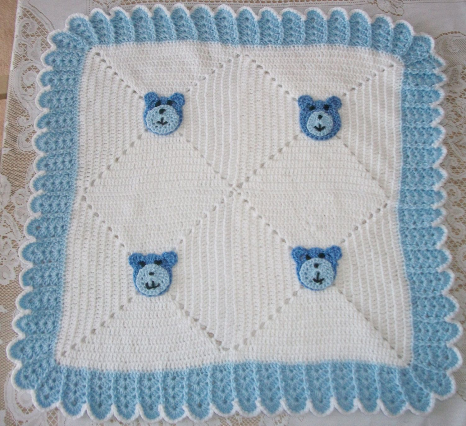 Car baby boy blanket crochet blanket by prairieheartstrings - Crochet Baby Boy Teddy Bear Sweater Set Layette Outfit With Leggings And Blanket Perfect For Baby Shower Gift Or Take Me Home Outfit