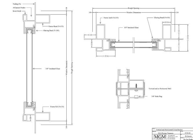 5010 Vinyl Window Cross Section Architecture Detail
