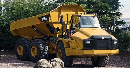 2012 Caterpiller 740B off road haul truck by The Silver Spade American