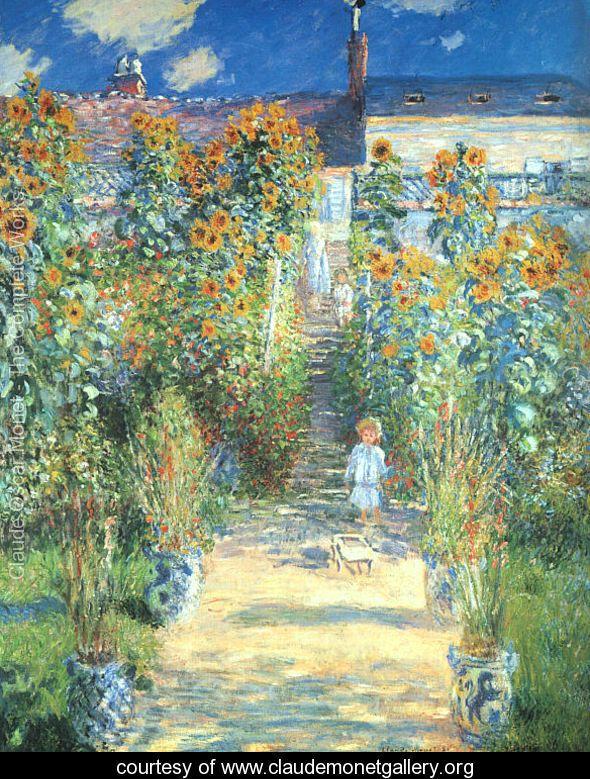 The Artist's Garden at Vetheuil  1880 - Claude Oscar Monet