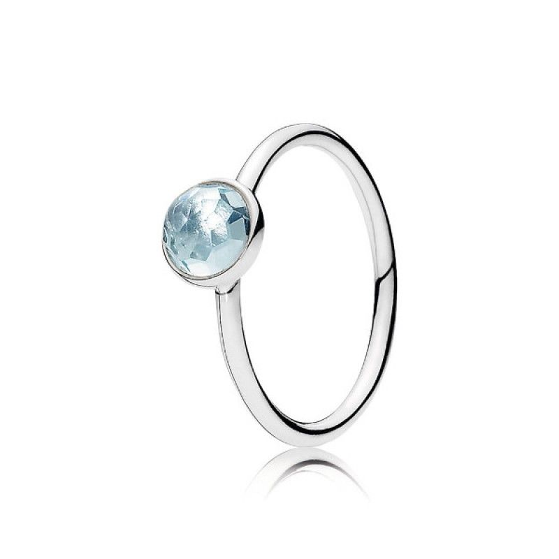 anillo gota de abril pandora