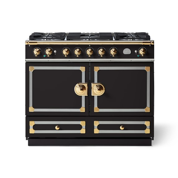 La Cornue Cornufe 110 Range Matte Black Williams Sonoma La Cornue Black Appliances Kitchen Range Cooker
