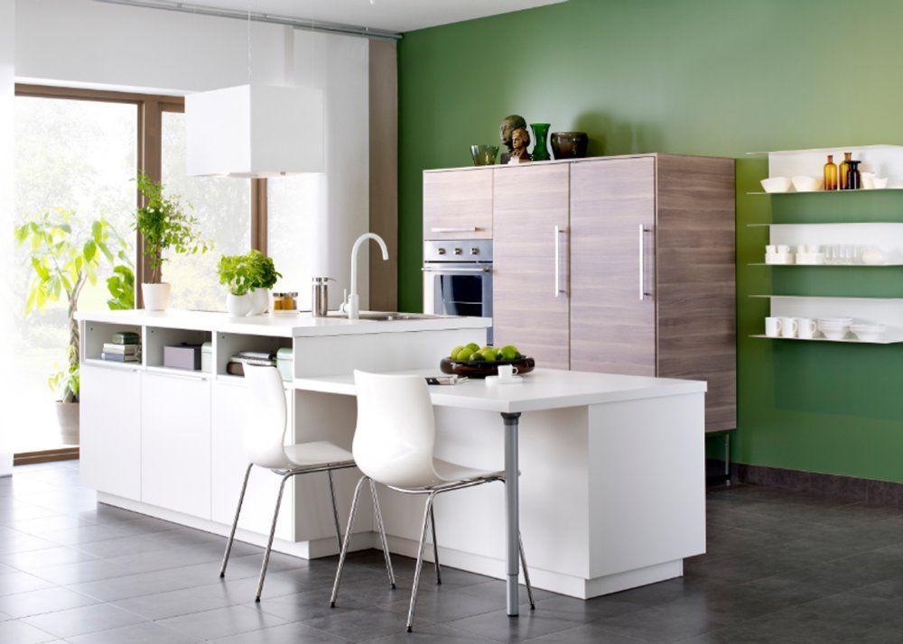 Cuisine îlot  ce qu\u0027on a repéré chez les cuisinistes Cuisine and - Hauteur Plan De Travail Cuisine Ikea