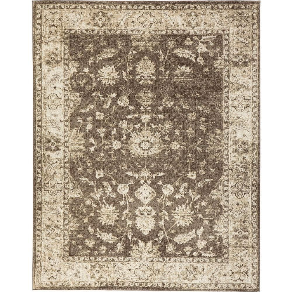 Home Decorators Collection Old Treasures Brown Cream 7 Ft 10 In X 9 Area Rug 25187 The Depot