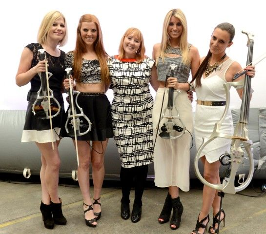 The Escala girls ready to perform #violin #music   Events In