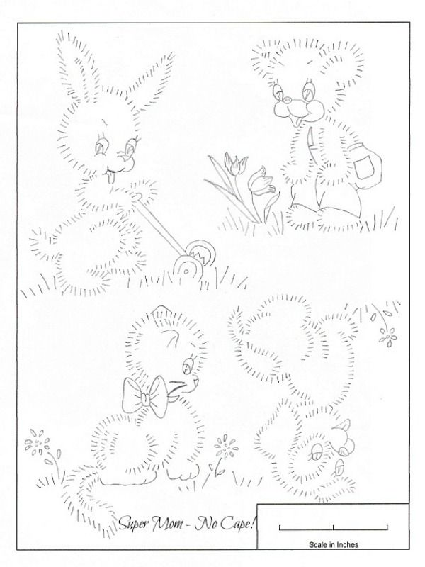 Vintage Embroidery Patterns | Vintage Embroidery Monday – Bunny ...