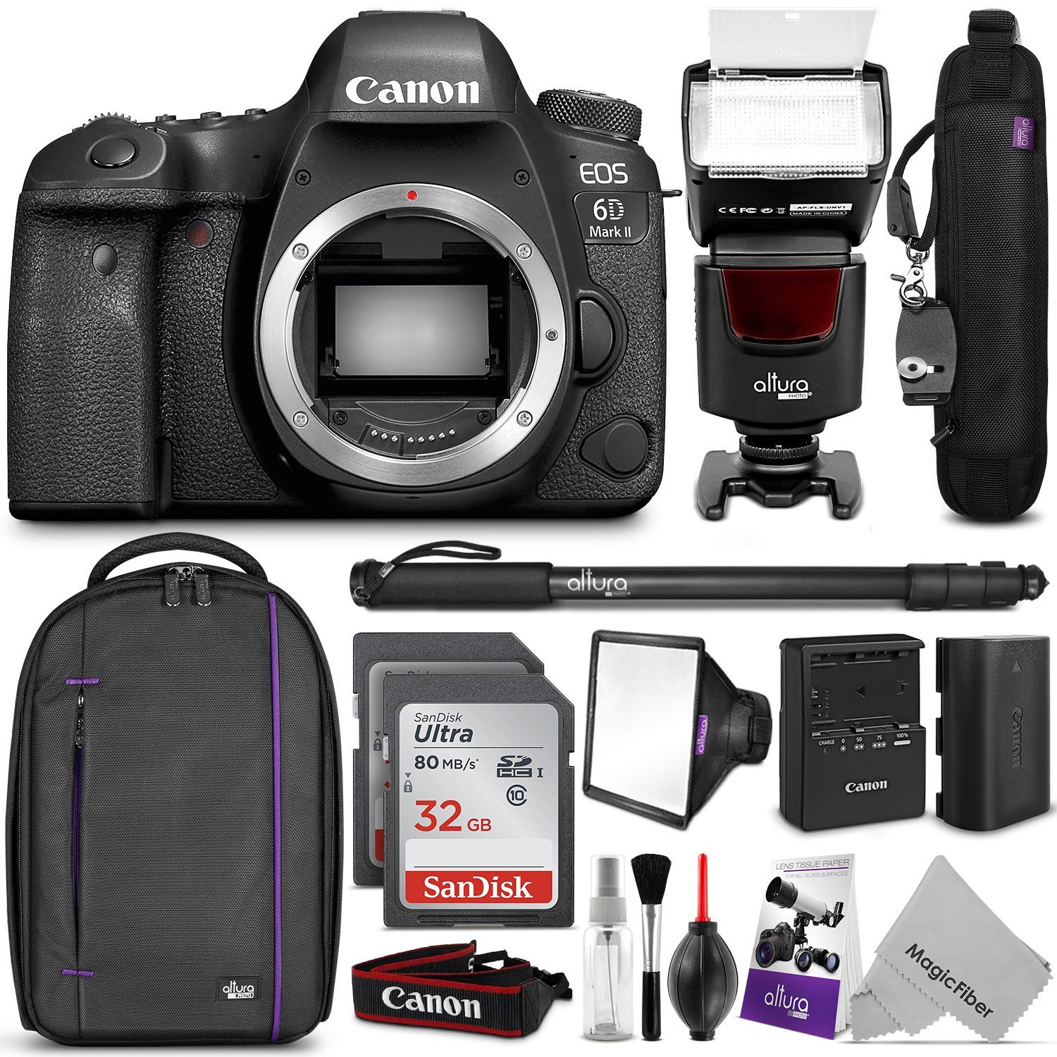 Canon Eos 6d Mark Ii Dslr Camera Body W Complete Photo And Travel