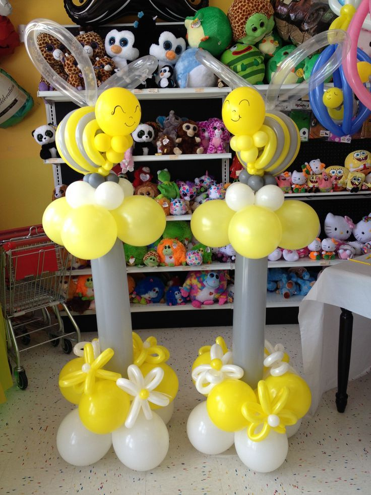 Baby Shower Bee Themed Balloon Towers I Sure Wish Kayla Was Available