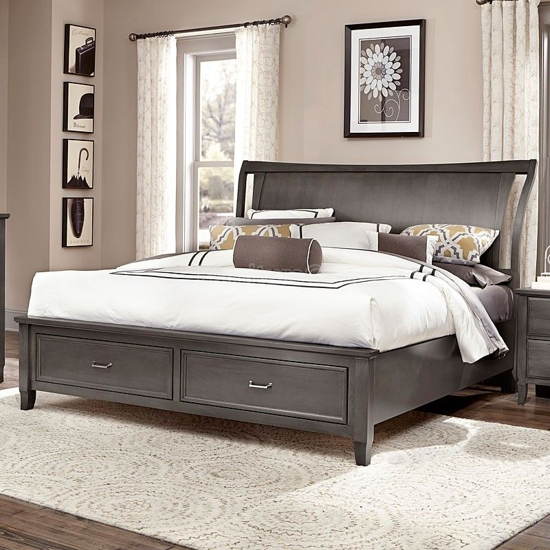 commentary wing storage bed steel  king size bedroom