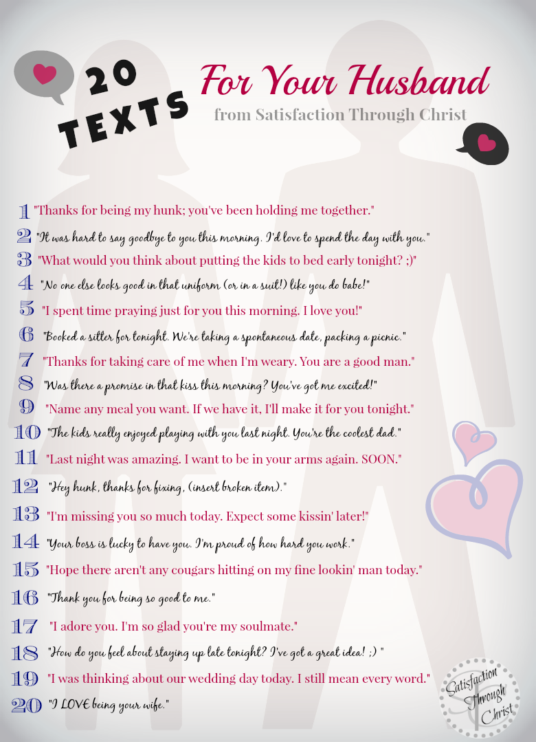 30 Text Messages for Spouses | Wedding | Hubby love, Husband