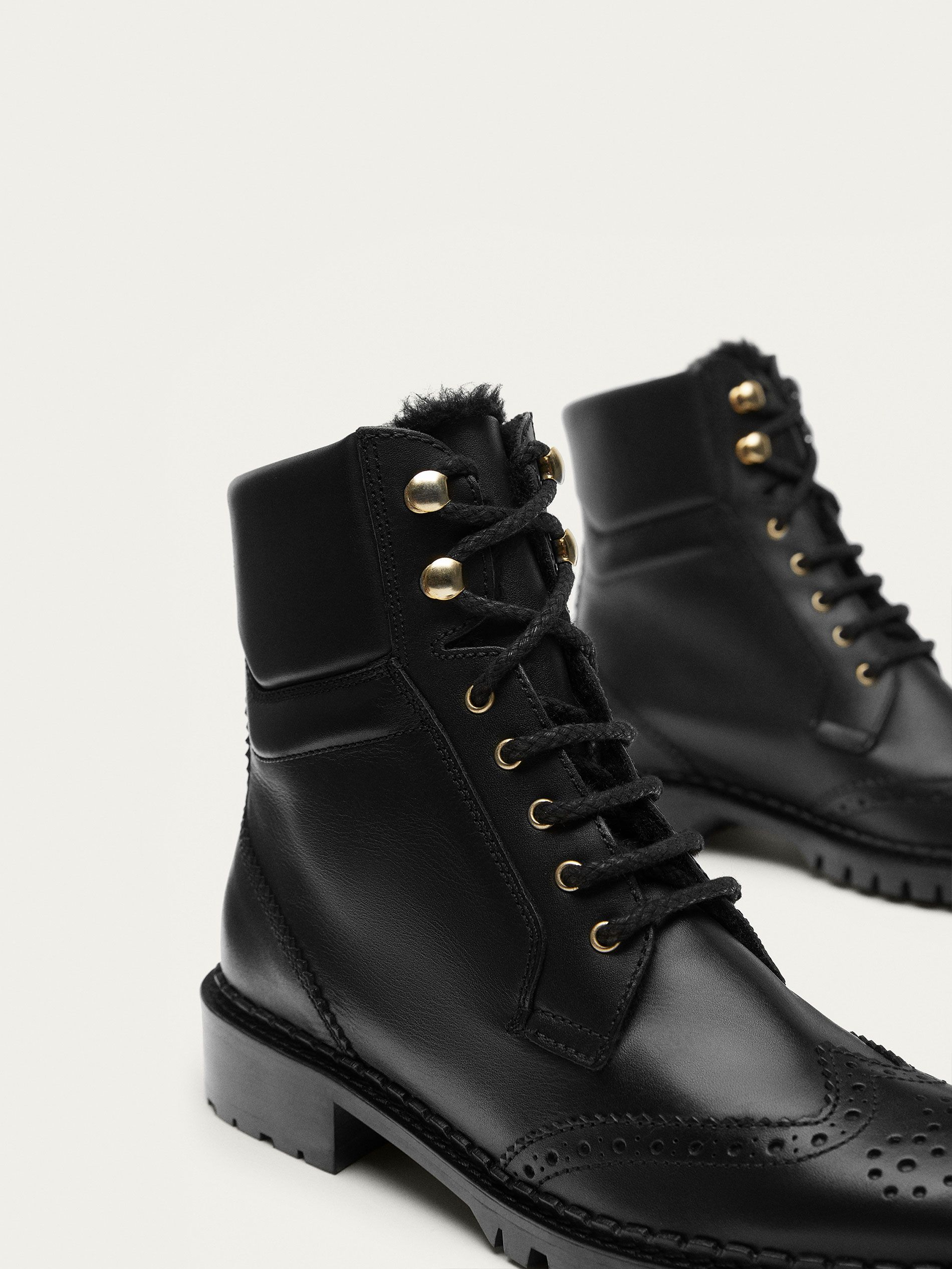 Fall Winter 2017 Women´s BLACK NAPPA LEATHER ANKLE BOOTS